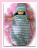 baby cocoon and hat
