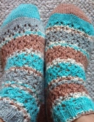 feather lace spring/summer socks