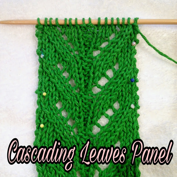 cascading leaves knitting stitch pattern is perfect for many projects. If you like to knit lace, you'll appreciate this one. Enjoy1