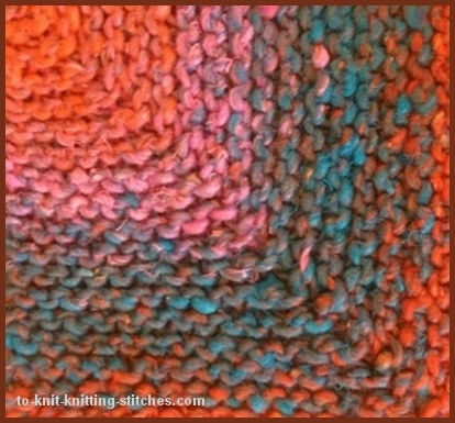Mitered Knitting Patterns : Mitered Coaster - An Easy Knitting Project in less than a day!