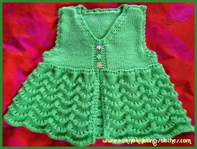 Scallop Knitting Pattern : Cute Scallop Vest For Girls - Free Vest Knitting Pattern