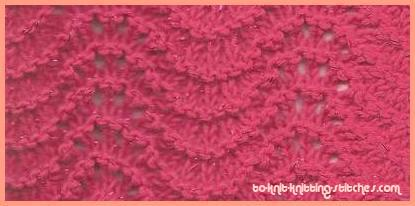 Knitting Pattern Feather And Fan Lace : Feather And Fan Knitting Stitch Pattern