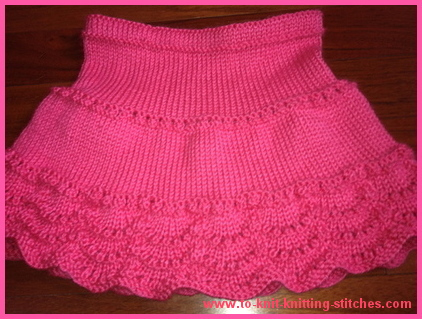pink scallop edge skirt