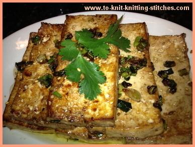 pan seared tofu korean style