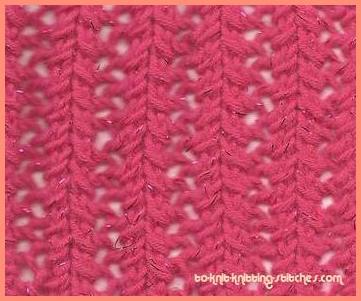 faggotted rib stitch pattern