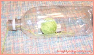 Keeping Yarn Clean In A Homemade Canister