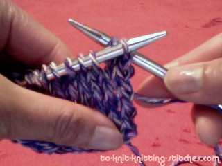 bind off insert left needle to the first loop