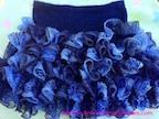 ruffle skirt knitted with sashay yarn