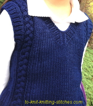 unisex school vest knitting pattern
