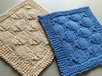 blue and beige af bow dishcloths