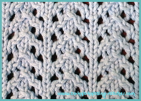 dishcloth knitting pattern in little arrowhead lace