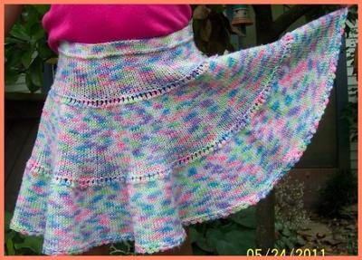 Easy Summer Knitting Pattern Girl Skirt In Simple