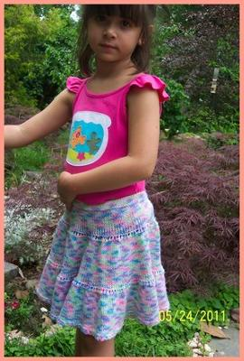 toddler & girl skirt knitting pattern