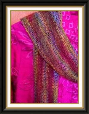 summer scarf over jacket