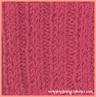Fancy Slip Stitch Rib - Another simple rib stitch to knit