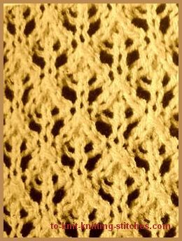 feather lace stitch