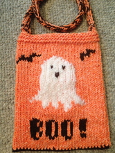 halloween candy bag knitted