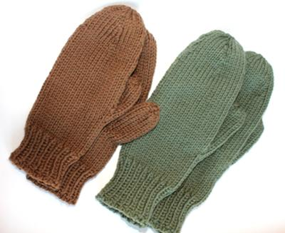 His & Her Mittens - Easy Mittens Pattern