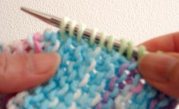 pick up stitches along an edge of knitting