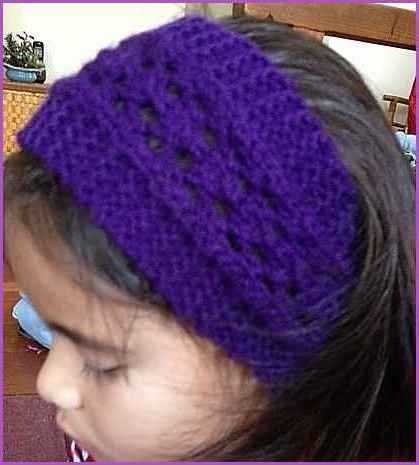 Easy Lacy Headband Beginner Lace Knitting Pattern