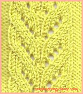 Cascading Leaves Lace Pattern - Easy stitch pattern for beginner