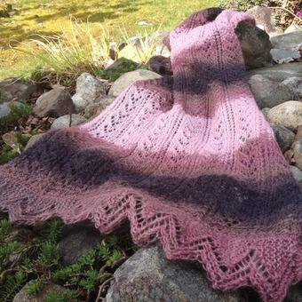 spring lace scarf knitting pattern