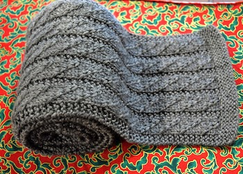male scarf gray