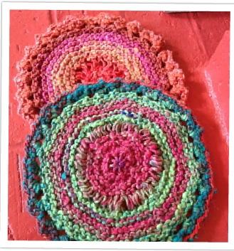 knitted circular mats