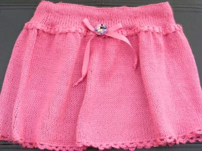 Skirt for Devin with Minnie Mouse Button