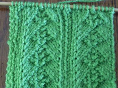 Knitting Increasing Stitches Make One : Picture Of M1 Swatch