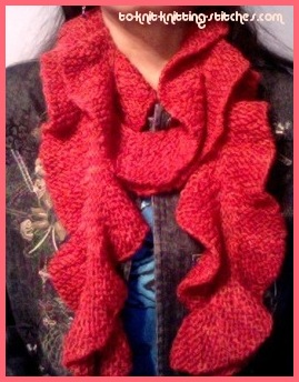Knitting Pattern For Potato Chip Scarf : Free Scarf Knitting Patterns - Easy Scarf For Beginner