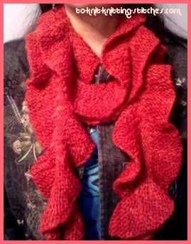 Potato chip scarf easy ruffle scarf knitting pattern rustic potato chip scarf dt1010fo