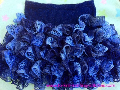 ruffle skirt knitted with sashay yarn