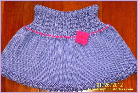 knitted short skirt for toddler