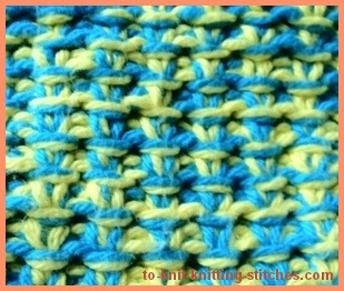 knitted mop cover slip sts wrong side