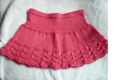 Pink scallop skirt