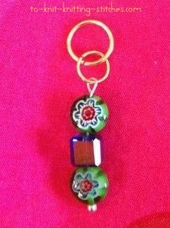 stitch marker from broken earring