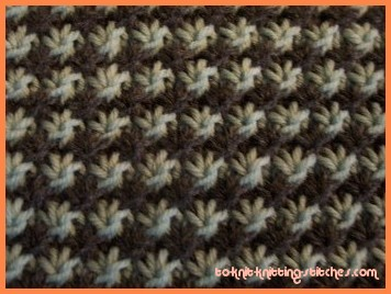 2 Color Knitting Patterns : Star Stitch Pattern - Easy Knitting Stitch Pattern