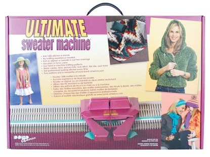 Free knitting machine instructions for a baby sweater and hat