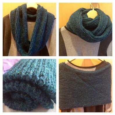 Different Way To Wear A Happy New Year scarf using Turkish stitch