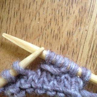 knit wrap yarn around 3 sts