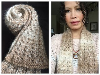 Go Natural With This Cozy Easy Winter Lace Scarf