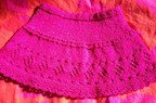 sparkling pink skirt with diamond lace border