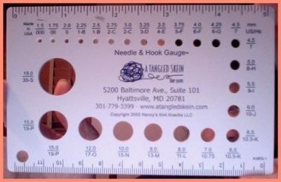 needle and hook gauge measurement