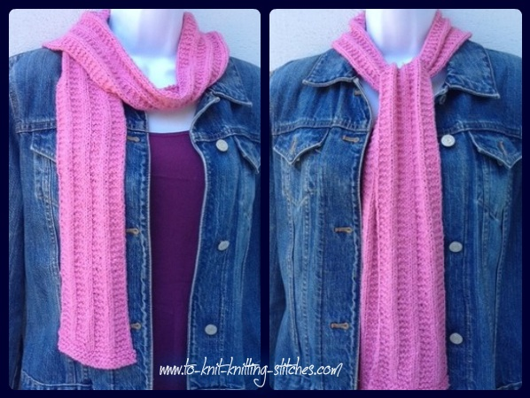 pretty-in-pink scarf