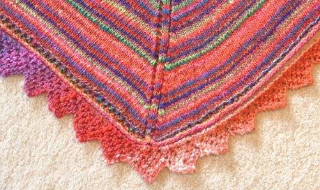 Simple eyelet edging (knitting)