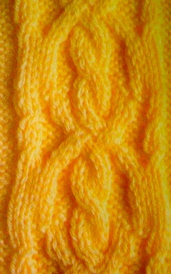 fancy cross and cable panel knitting pattern