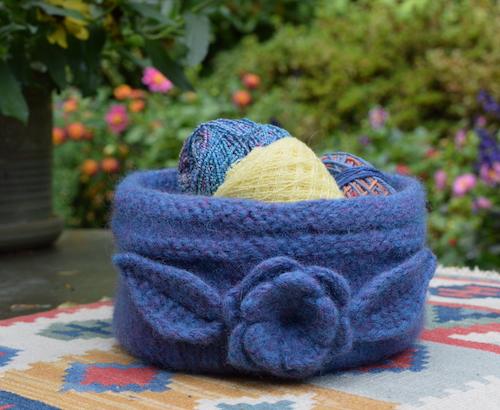 felted basket knitting pattern