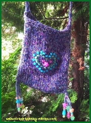 knitted shoulder bag