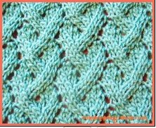 loose lattice lace stitch